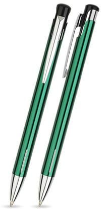 Dunkel Grün glänzender JOY -Metallkugelschreiber inkl. gratis Laser-Gravur mit Namen, Text oder Logo