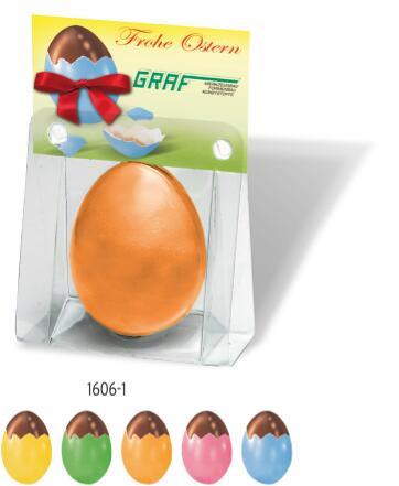 Nougat Ei in Blisterpackung mit Kärtchen, 1-4 c Digitaldruck inklusive