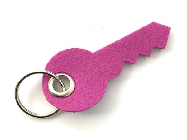 Schlüssel - Filz-Schlüsselanhänger - Farbe: magenta - optional mit Gravur / Aufdruck