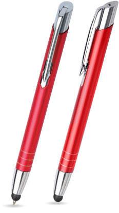 Rot matter MOOI TOUCH-PEN -Metallkugelschreiber inkl. gratis Laser-Gravur mit Namen, Text oder Logo