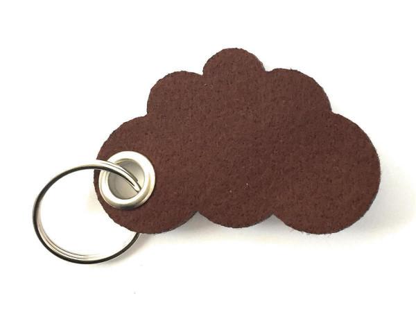 Wolke / Cloud - Filz-Schlüsselanhänger - Farbe: braun - optional mit Gravur / Aufdruck