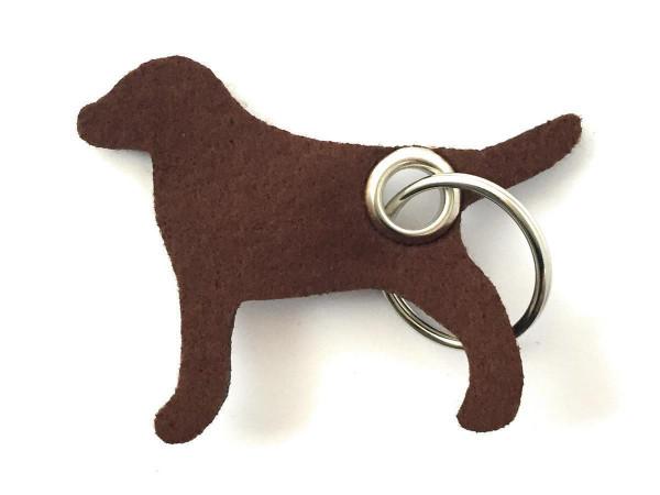 Hund / Tier - Filz-Schlüsselanhänger - Farbe: braun - optional mit Gravur / Aufdruck