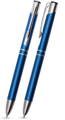 Blau matter DUO - Metallkugelschreiber inkl. gratis Laser-Gravur mit Namen, Text oder Logo