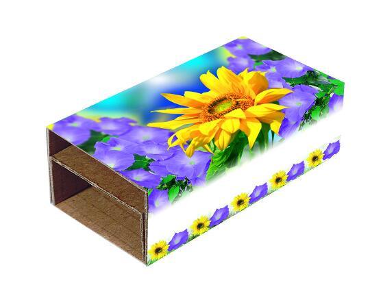 Blumen-Duo, Ipomoea, Zwergsonnenblume, 1-4 c Digitaldruck inklusive