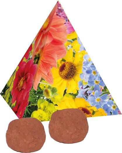 Pyramide Spitzenwachstum, bunte Blumenmischung, 1-4 c Digitaldruck inklusive