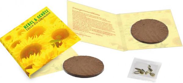 Wachstumskärtchen Sonne, Zwergsonnenblume, 1-4 c Digitaldruck inklusive