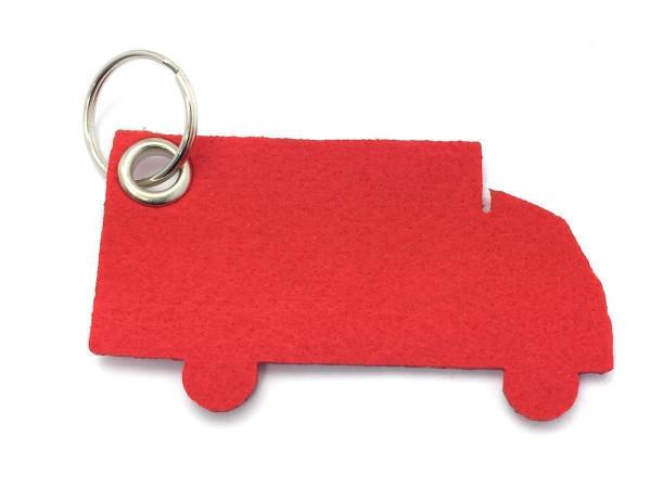 LKW - Filz-Schlüsselanhänger - Farbe: rot - optional mit Gravur / Aufdruck
