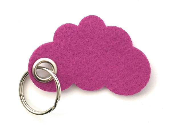 Wolke / Cloud - Filz-Schlüsselanhänger - Farbe: magenta - optional mit Gravur / Aufdruck