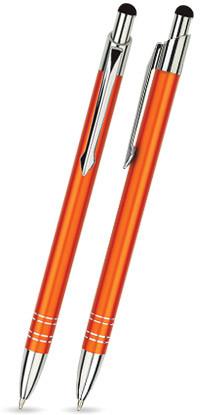 Orange matter BOND TOUCH-PEN -Metallkugelschreiber inkl. gratis Laser-Gravur mit Namen, Text oder Lo