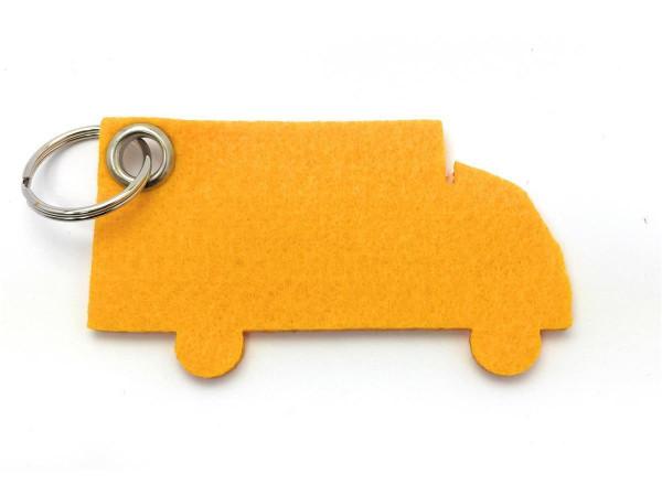 LKW - Filz-Schlüsselanhänger - Farbe: gelb - optional mit Gravur / Aufdruck