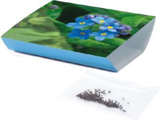 Wachstums-Schälchen Vergiss-mein-nicht, Vergissmeinnicht, 1-4 c Digitaldruck inklusive