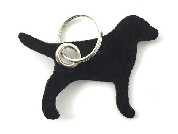 Hund / Tier - Filz-Schlüsselanhänger - Farbe: schwarz - optional mit Gravur / Aufdruck