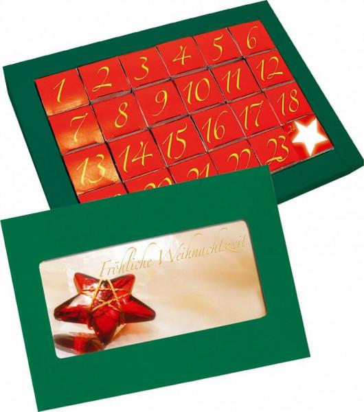 Adventskalender, ohne Inhalt, 1-4 c Digitaldruck auf Karte inklusive