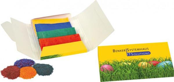 Eierfarben-Päckchen, 4 Farben sortiert, 1-4 c Digitaldruck inklusive