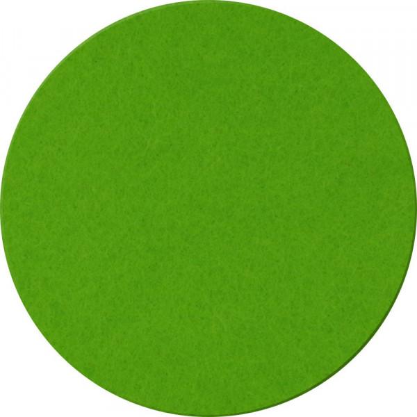 Filzuntersetzer rund, 10cm, apfelgrün- optional mit Aufdruck, Werbegeschenk