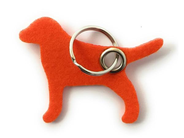 Hund / Tier - Filz-Schlüsselanhänger - Farbe: orange - optional mit Gravur / Aufdruck