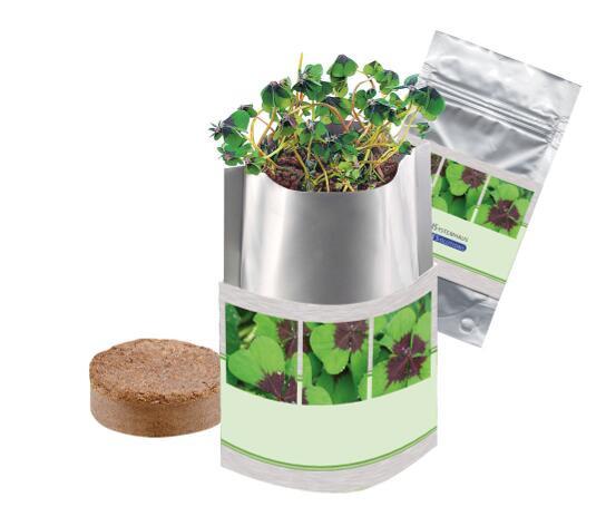 Plant Bag Glück, Glückskleezwiebelchen, 1-4 c Digitaldruck inklusive