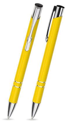 LIBO in Gelb - Metallkugelschreiber, inkl. Gravur mit Namen bedruckt