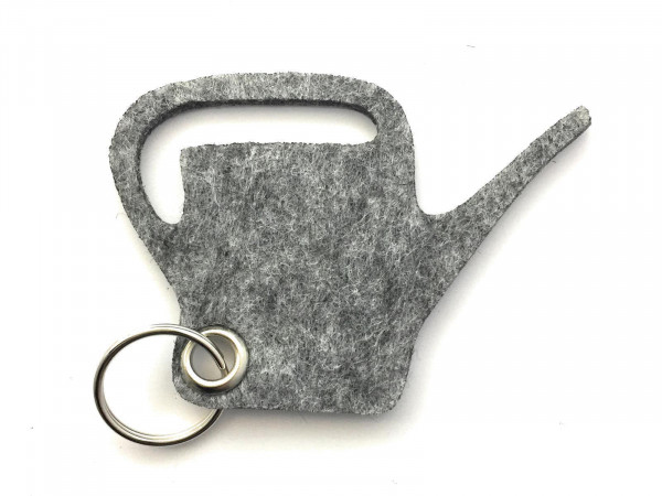 Giess-Kanne - Filz-Schlüsselanhänger - Farbe: grau meliert - optional mit Gravur / Aufdruck