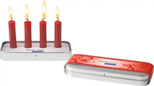 Pocket Adventskranz, Banderole und Steckeinsatz, 1-4 c Digitaldruck inklusive