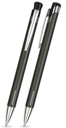LAIKO in Anthrazit - Metallkugelschreiber, inkl. Gravur mit Namen bedruckt