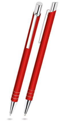 Rot matter FIT - Metallkugelschreiber inkl. gratis Laser-Gravur mit Namen, Text oder Logo