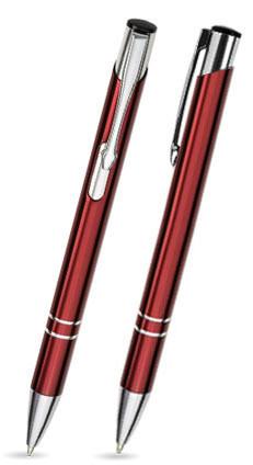 Burgund Roter LIBO -Metallkugelschreiber inkl. gratis Laser-Gravur mit Namen, Text oder Logo