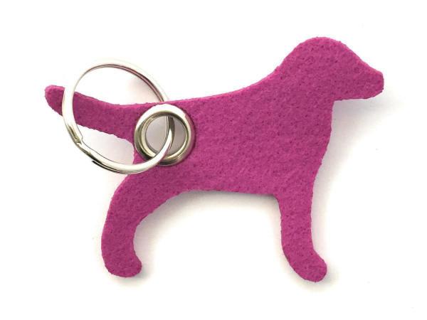 Hund / Tier - Filz-Schlüsselanhänger - Farbe: magenta - optional mit Gravur / Aufdruck