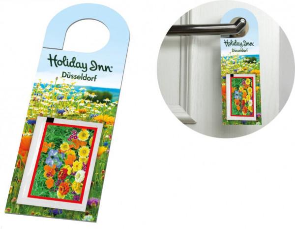 Türanhänger Blühendes Willkommen, 1-4 c Digitaldruck inklusive